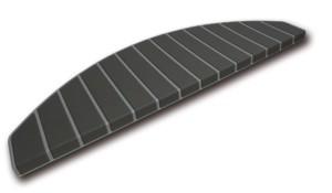 Tapis marches d'escalier - marchettes d'escalier – gris - anthracite