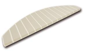 Trapmatten en trapmaantjes anti slip creme wit - bamboo
