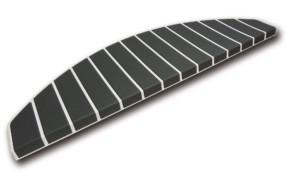 Tapis marches d'escalier - marchettes d'escalier – blanc pur - anthracite