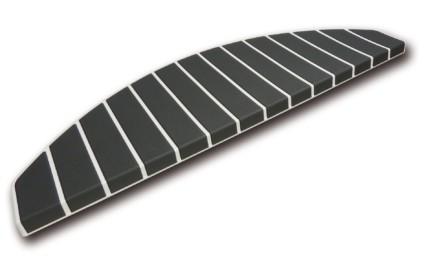 Trapmatten en trapmaantjes anti slip gebroken wit - antraciet
