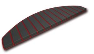 Tapis marches d'escalier - marchettes d'escalier - rouge - noir