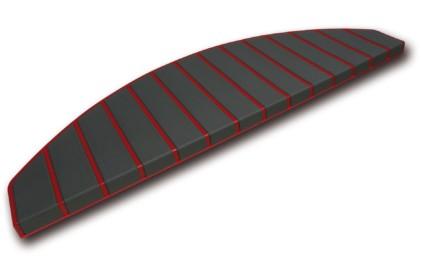 Trapmatten en trapmaantjes anti slip rood - antraciet