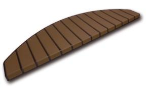 Tapis marches d'escalier - marchettes d'escalier – marron – marron
