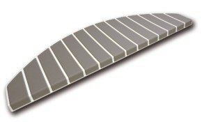 Tapis marches d'escalier - marchettes d'escalier – blanc pur – warm taupe