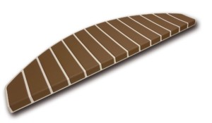 Tapis marches d'escalier - marchettes d'escalier – blanc crème – marron