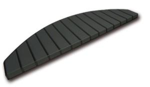 Tapis marches d'escalier - marchettes d'escalier - noir - anthracite