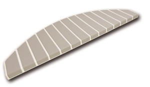 Tapis marches d'escalier - marchettes d'escalier – blanc pur – cool taupe