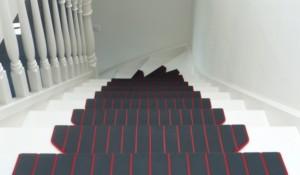 Trapmaantjes trap gedraaid rood grijs