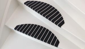 Trapmaantjes trapbekleding wit zwart