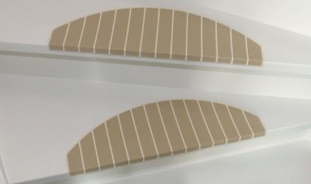 Trapmatten en trapmaantjes beige