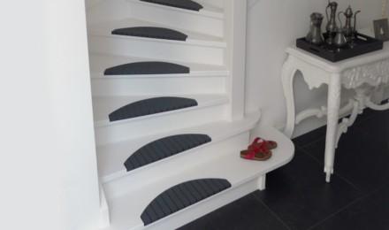 Trapmatten trapmaantjes zwart grijs