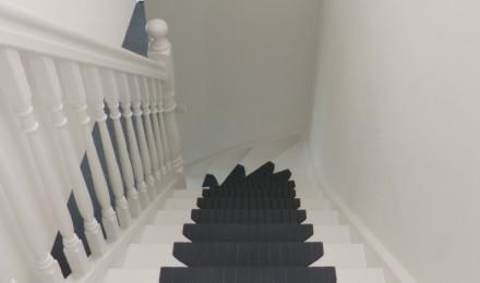 Trapmatten en trapmaantjes zwart grijs