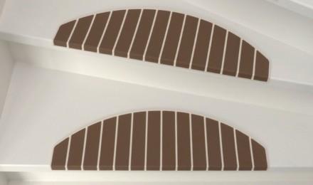 Trapmaantjes trapbekleding beige bruin