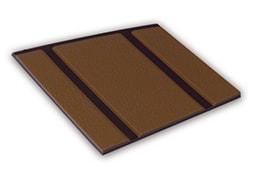 Kleurstaal van een Micostep® kunststof trapmat – bruin – bruin