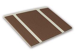 Kleurstaal van een Micostep® kunststof trapmat – creme wit - bruin