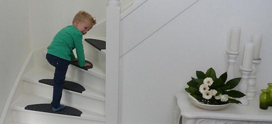 Kunststof trapmatten van Micostep® maken de trap veilig voor uw kind(eren)!