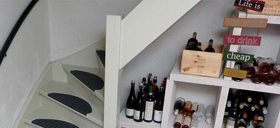 De antislip trapmaantjes combineren met elke trap. Ook naar de bovenverdieping of wijnkelder!