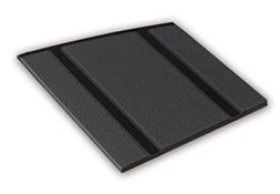 Kleurstaal van een Micostep® kunststof trapmat – zwart - antraciet