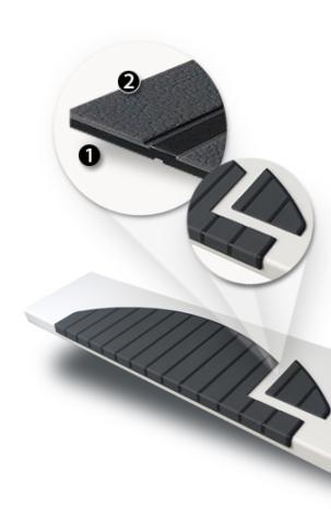 Het materiaal van Micostep® Kunststof trapmatten en trapmaantjes