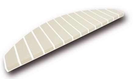 Tapis marches d'escalier - marchettes d'escalier - blanc pur - bambou