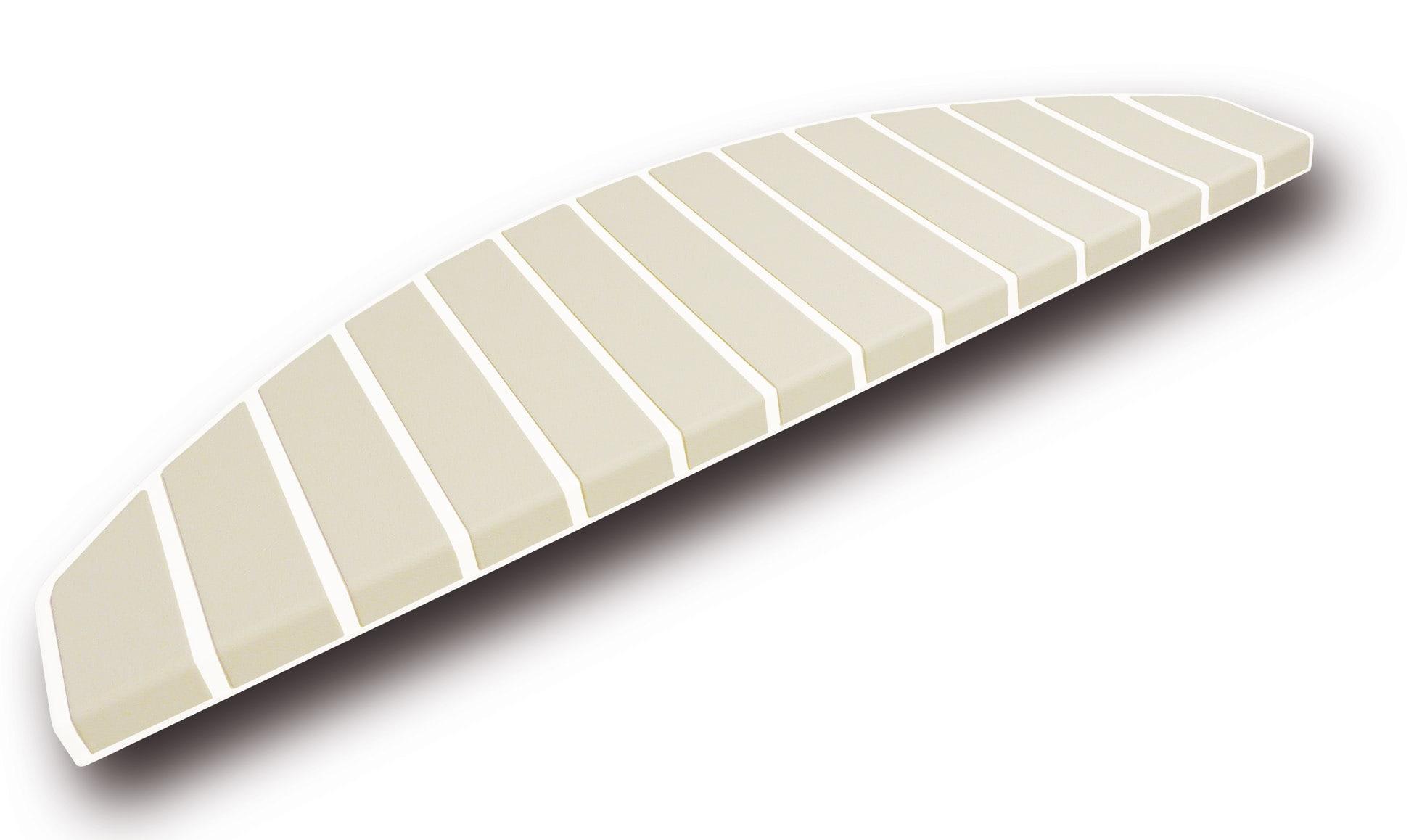 Trapmatten en trapmaantjes gebroken wit bamboo