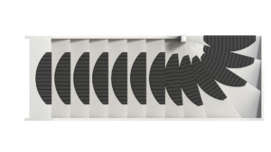 Placer des tapis d'escalier Micostep® sur un escalier tordu