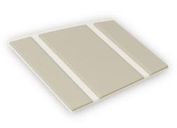 Kleurstaal van een Micostep® kunststof trapmat – gebroken wit - bamboo