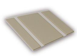 Kleurstaal van een Micostep® kunststof trapmat – creme wit – zand