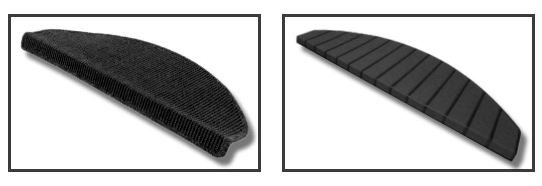 Sisal trapmatten - stof en kunststof - zwart