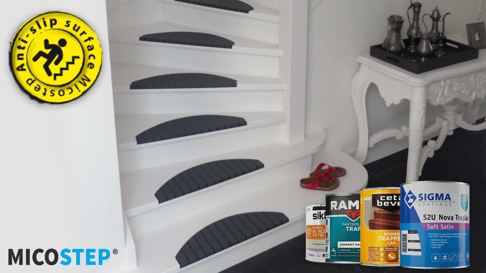 Kies de juiste trapverf bij toepassen trapmatten