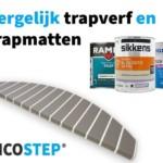 Vergelijk trapverf en trapmatten
