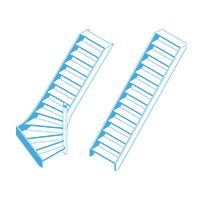 Geschikt voor rechte en draaiende trappen
